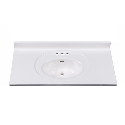 Recessed Center Oval Bowl 37 Single Bathroom Vanity Top
