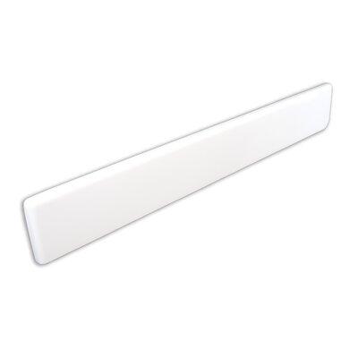 22 X 3 Left Hand Side Splash in Solid White