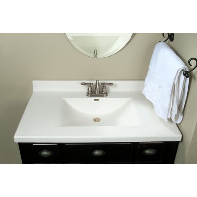 Center Wave Bowl 37 Single Bathroom Vanity Top