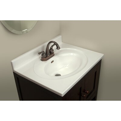 25 Single Bathroom Vanity Top Size: 3 H x 25 W x 19 D