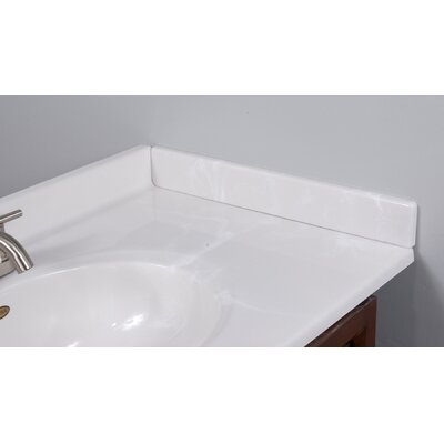 19 X 3 Right Hand Side Splash in White on White