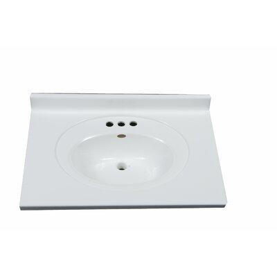 Recessed Center Oval Bowl 31 Single Bathroom Vanity Top