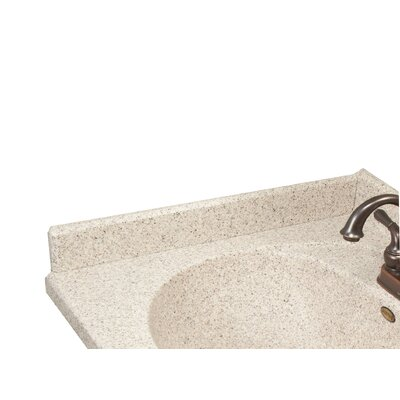 22 X 3 Left Hand Side Splash for Olympic Oval Style Bathroom Vanity Top in Cappuccino