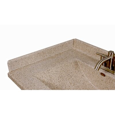 22 X 3 Left Hand Side Splash for Wave Style Bathroom Vanity Top in Cappuccino