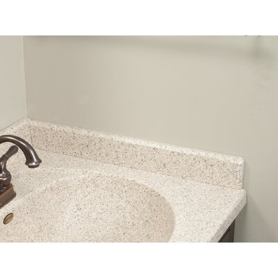 22 X 3 Right Hand Side Splash for Olympic Oval Style Bathroom Vanity Top in Cappuccino