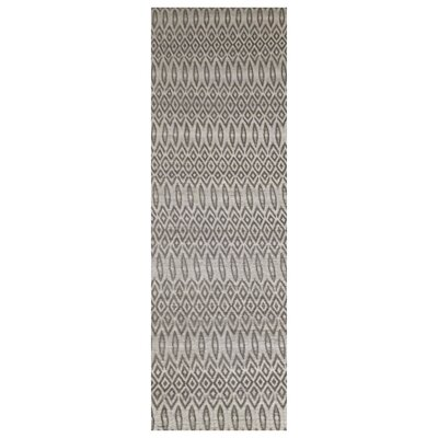 Intuition Geo Taupe Area Rug Rug Size: Runner 26 x 8