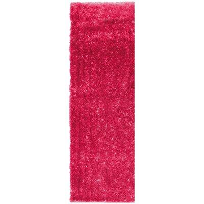 Metro Silk Hot Pink Area Rug Rug Size: Runner 26 x 8
