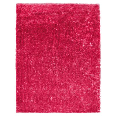 Metro Silk Hot Pink Area Rug Rug Size: 9 x 12