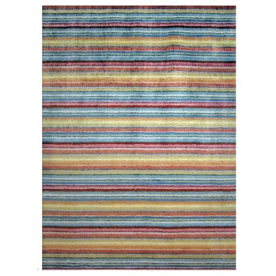 Infinite Silk Beige/Blue/Purple Area Rug Rug Size: Rectangle 6 x 8