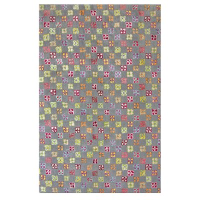 Aurore Bouquet Grey Area Rug Rug Size: 5 x 7