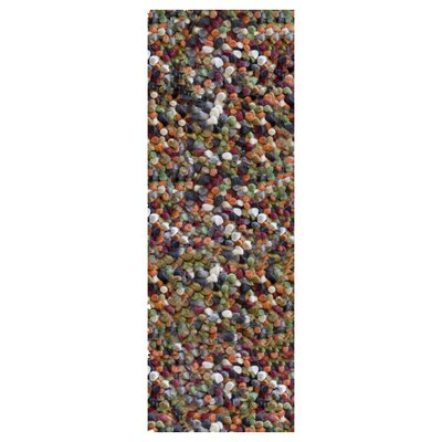 Carida Spice Hand Woven Purple/Green/Beige Area Rug Rug Size: Runner 26 x 8