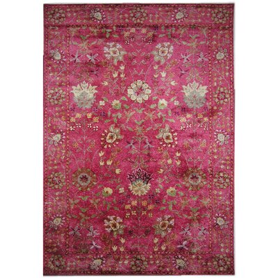 New School Hand-Tufted Silk Red Area Rug Rug Size: Rectangle 5 x 8