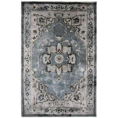 New School Slate Hand-Tufted Silk Gray Area Rug Rug Size: Rectangle 5 x 8