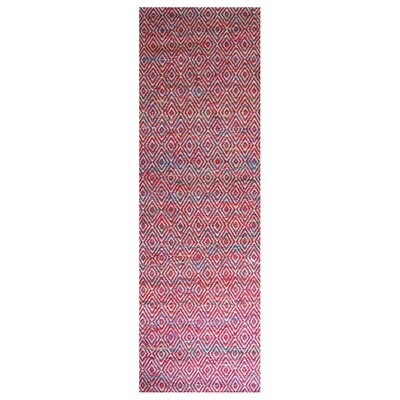 Agrippa Festival Red Area Rug Rug Size: Runner 26 x 8