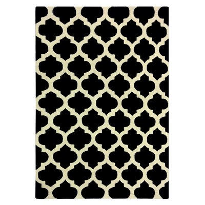 Elite Black Area Rug Rug Size: 6 x 9
