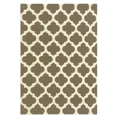 Elite Taupe Area Rug Rug Size: 6 x 9