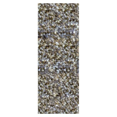 Carida Natural Hand Woven Purple/Beige/Green Area Rug Rug Size: Runner 26 x 8