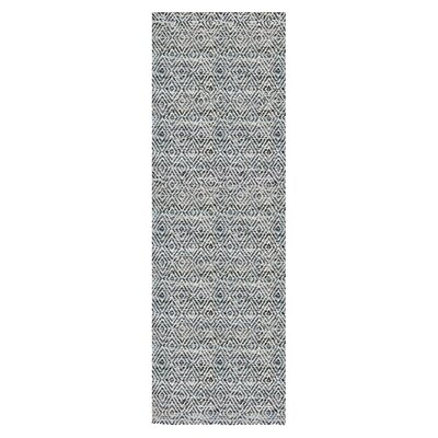 Agrippa Midnight Navy Blue Area Rug Rug Size: Runner 26 x 8