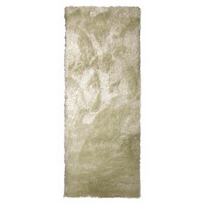Tinsel Beige Shag Area Rug Rug Size: Runner 26 x 8