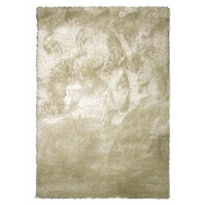 Tinsel Beige Shag Area Rug Rug Size: 5 x 76