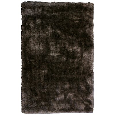 Tinsel Brown Shag Area Rug Rug Size: 6 x 9