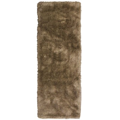 Tinsel Taupe Shag Area Rug Rug Size: Runner 26 x 8