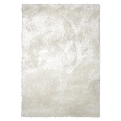 Tinsel White Shag Area Rug Rug Size: 6 x 9