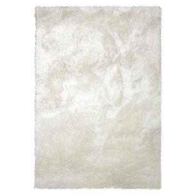 Tinsel White Shag Area Rug Rug Size: 9 x 12