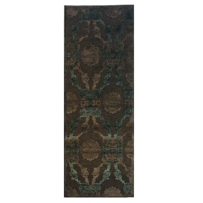 Monet Brown Area Rug Rug Size: Runner 26 x 78