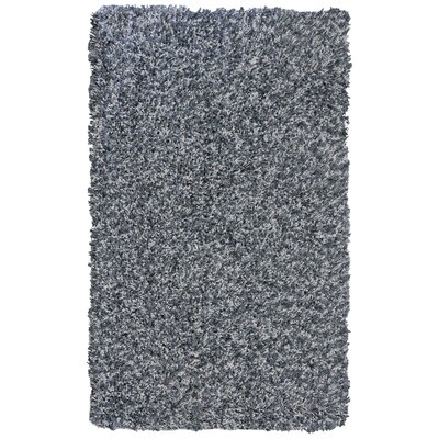 Pearly Grey Shag Area Rug Rug Size: 5 x 76