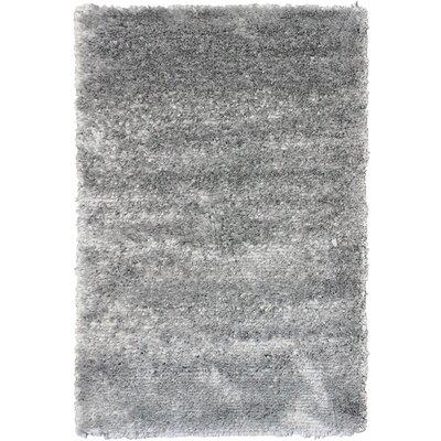 Petal Grey Shag Area Rug Rug Size: 4 x 6