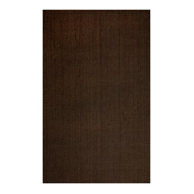 Natural Chic Hand-Woven Espresso Area Rug Rug Size: 5 x 76