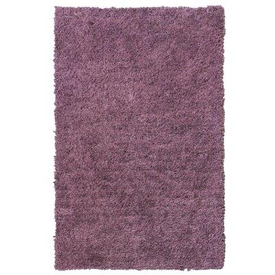Downy Purple Shag Area Rug Rug Size: 5 x 76