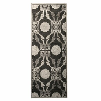 Monet Grey Area Rug Rug Size: Runner 26 x 78