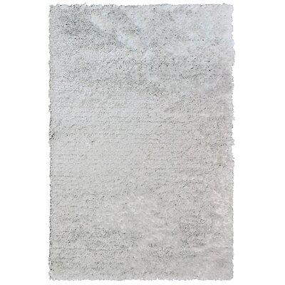 Petal White Shag Area Rug Rug Size: 8 x 10
