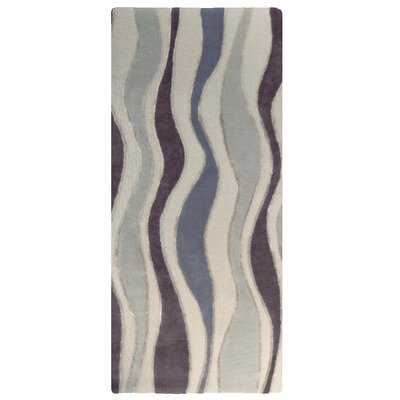 River Flow Wool Grey Area Rug Rug Size: Runner 2 x 8