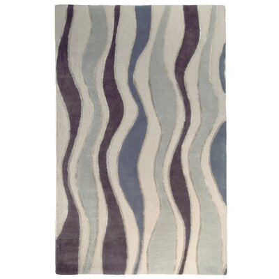 River Flow Wool Grey Area Rug Rug Size: 5 x 8