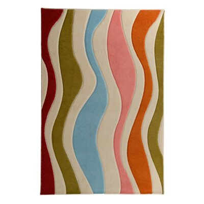 Playful Rainbow Area Rug Rug Size: 5 x 7