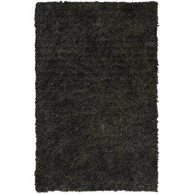 Downy Charcoal Shag Area Rug Rug Size: 5 x 76