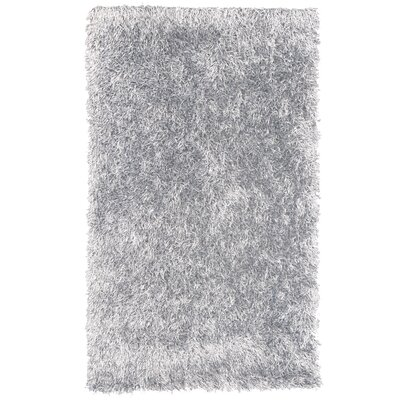 Dragonfly Shag Hand-Woven White Area Rug Rug Size: 6 x 9
