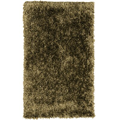 Dragonfly Shag Hand-Woven Brown Area Rug Rug Size: 5 x 8