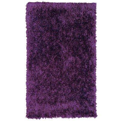 Dragonfly Purple Shag Area Rug Rug Size: 5 x 76