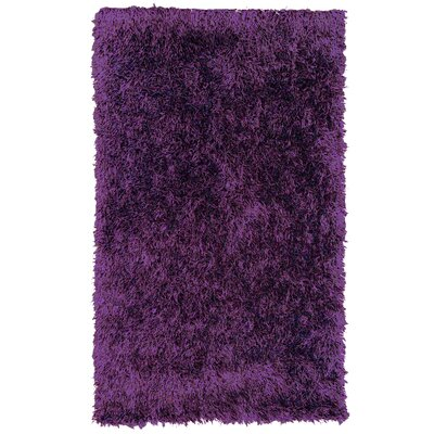 Dragonfly Purple Shag Area Rug Rug Size: 9 x 12