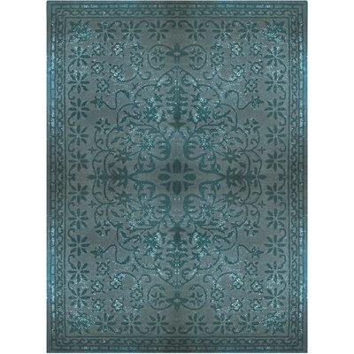 Epoch Vintage Wool Teal Area Rug Rug Size: 5 x 8