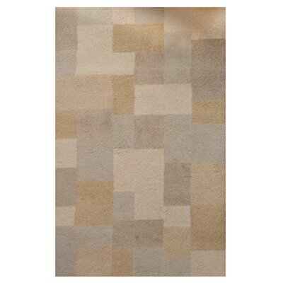 Madrid Wool Beige Area Rug Rug Size: 5 x 8
