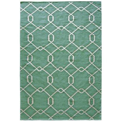 Diamond Green Area Rug Rug Size: 5 x 7
