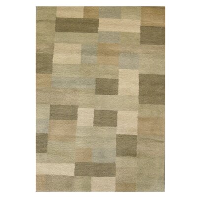 Madrid Wool Green Area Rug Rug Size: 5 x 8