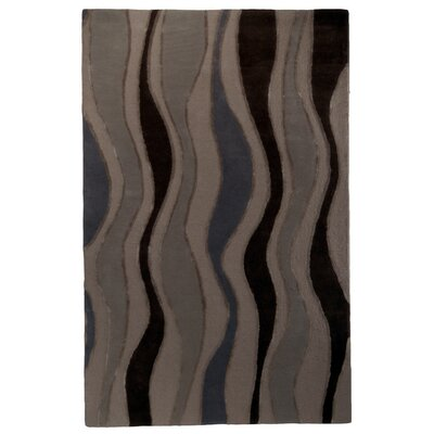 River Flow Wool Purple Area Rug Rug Size: 5 x 8