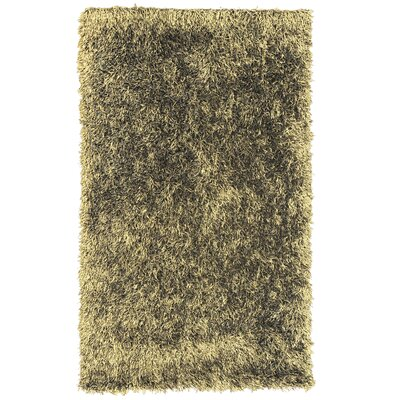 Dragonfly Shag Hand-Woven Gold Area Rug Rug Size: 8 x 10