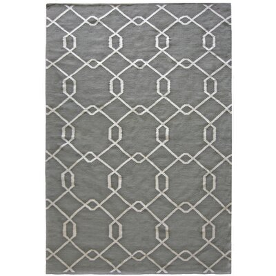 Diamond Hand-Woven Gray Area Rug Rug Size: 5 x 7